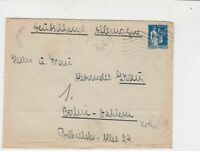 France 1936 Paris Wavy Cancel to Germany Stamp Cover Ref 29785