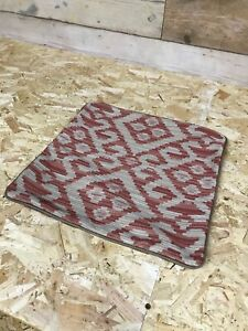 NEW Alexander James Pemberley brick chenille brown leather scatter cushion cover
