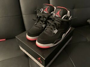 air jordan 4 bred retro iv og black cement red