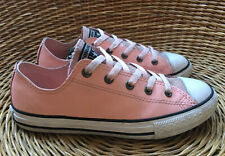 Converse All Star Womens Junior Pink Glitter Leather Trainers Shoes UK 3 EU 35.5