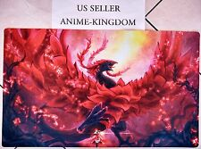 USA Seller Custom Anime Playmat Play Mat Mouse Pad Cool Black Rose Dragon #571