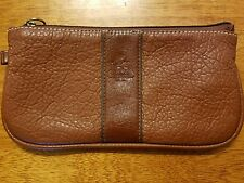Vintage Coach Brown Leather Clutch Wristlet Bag