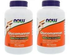 Now Foods - Glucomannan, 575 mg, 180 Capsules - 2 Packs