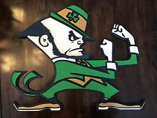 Rare 3d Notre Dame Fighting Irish Handmade Signed bar Office Basement Football
