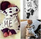 Newborn Baby Boy Girl Infant Warm Cotton Outfit Jumpsuit Romper Bodysuit Clothes