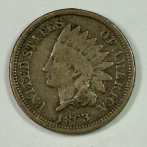 1863 Indian Cent – Mint Error – 180 Degree Rotation Reverse – Medal Alignment