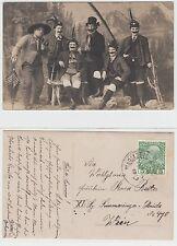 Mariazell,Frauen als Männer in Tracht wohl Theater Travestie Cross Dresser c1915