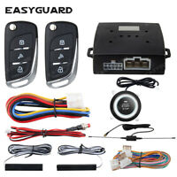EASYGUARD car alarm remote start push button automatically lock pke keyless go