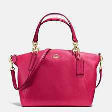 NWT Coach BRIGHT PINK Small Kelsey Leather Satchel Shoulder Bag F36675-New $295