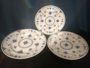 Furnivals ~ Johnson  Denmark Blue Trio Of Plates ~ Cakestand??