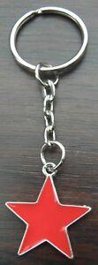 Red Star Key Ring Keyring 5-pointed Pentagram Communism Communist Soviet Symbol