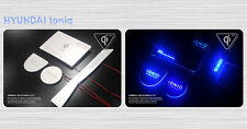 (Fits: Hyundai 2017+ Ioniq) LED Wireless Battery Charger Plate Cup Holder