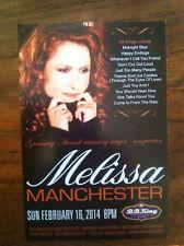Melissa Manchester Clannad ad/flyer B.B. King club 2014 club apperance