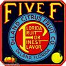 DeLand Florida Five F Orange Citrus Fruit Crate Label Art Print
