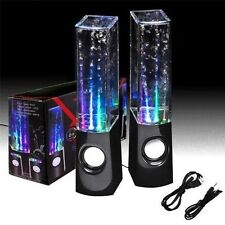 CASSE CON ACQUA RITMO DI MUSICA LED MP3 PC IPHONE SAMSUNG TABLET SMARTPHONE AUDI