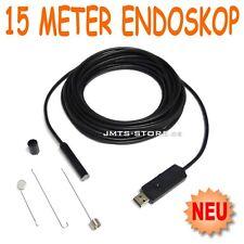 USB Farb Endoskop Kamera 15m Videoskop Borescope Endoskopkamera LED Beleuchtung