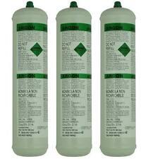 3 X Pure Argon Disposable Gas Bottles 390G 60L