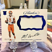 2017 Panini Flawless Collegiate Rookie Patch Autograph Mike Williams RPA RC 5/15