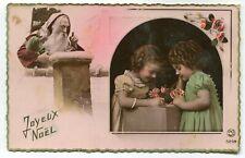 CPA - Carte Postale - Fêtes - Joyeux Noël - Père Noël et Enfants (I10534)