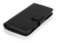 "For One Plus One 5.5"" Black PU Leather Classic Slim Wallet Flip Case Cover Stand"