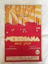 SPARTITO MUSICALE MERIDIANA L'ALBA IL GIORNO LA NOTTE CHERUBINI RUSCONI 1926