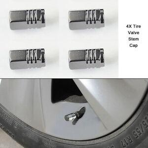 4PCS Tire Wheel Rim Stem Air Valve Cap Tyre Cover Car Truck Bike Aluminum