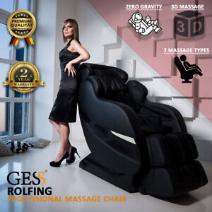 Rolfing Full Body Massage Chair Remote Control L-Shaped 8 Modes Zero Gravity 3D