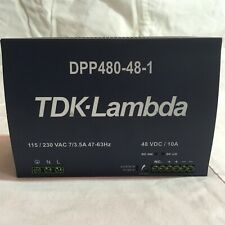 TDK-LAMBDA DPP480-48-1 DIN Rail Power Supply. 480Watts. 48Volts.20 A