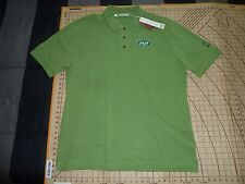 MENS 2XLARGE TALL GREEN COTTON CUTTER & BUCK JETS ADORNED POLO SHIRT - NWT