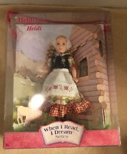 """HEIDI """"When I Read I Dream Doll Series """" Along With Doll Stand"""