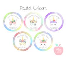Pastel Unicorn Personalised Teacher/Birthday/Party Stickers