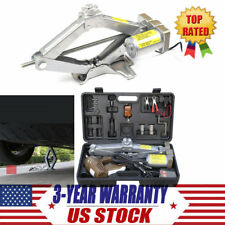 Automatic 5T 12V Electric Jack Scissor Lift Garage Vehicle Tire Repair Tool Set