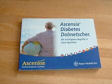 Diabetes Buch Übersetzer Reise-Dolmetscher 9 Sprachen Wörter Fragesätze