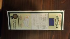 STATE FARM NEVADA ROAD MAP RARE LAMINATED COLLECTIBLE 1996