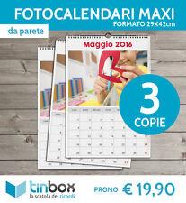 STAMPA ONLINE_3 COPIE FOTO CALENDARIO MAXI 2018 da parete 29X42_personalizzato