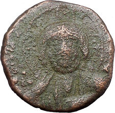 JESUS CHRIST Class A2 Anonymous Ancient 1025AD Byzantine Follis Coin i48177