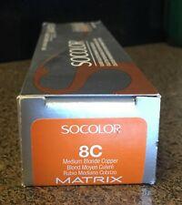 Matrix Socolor Beauty 8C Light Blonde Copper Permanent Color 3.1oz