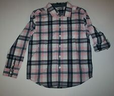 New Gymboree Jawsome Line Pink Blue Plaid Button Down Shirt Size 5-6 Year NWT