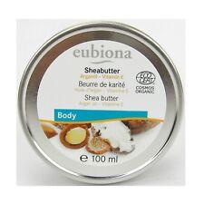 (9,45 EUR/100 ml) Eubiona Sheabutter mit Arganöl & Vitamin E 100 ml