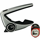 G7th Performance 2 Capo for 6 String Acoustic and Electric Guitars - Silver
