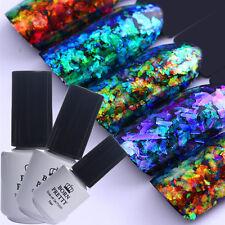 8pcs Born Pretty Nail Glitter Sequins Chameleon UV GEL Polish Top Base Coat GEL