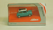 Schuco 1/64 Mini Cooper Blue / White 452014900 DIECAST SCALE REPLICA