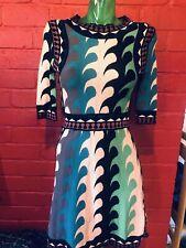 Silk Cotton Pattern Dress XS