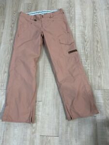 VOLCOM TRANSITION STREETWEAR SNOWBOARD SKI PANTS XL Rose pink v line Mint women