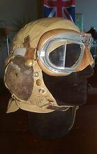 Original Named WWII British Royal Navy Fleet Air Arm Type 'D' Flight Helmet