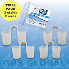 NOSE DOZE anti snore stop snoring dilators cones SMOOTH & RINGED TRIAL pack of 4
