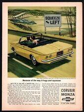 1964 Chevrolet CORVAIR Monza Spyder Yellow Convertible Sixties 1960s Car AD