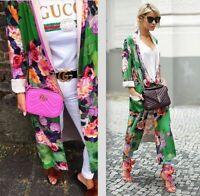 Zara RARE Green Floral Print Kimono (SIZE L) KAFTAN JACKET 2602/791