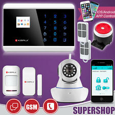 IP CAMERA ANTIFURTO ALLARME KIT CASA GSM PSTN WIRELESS CELLULARE SMARTPHONE