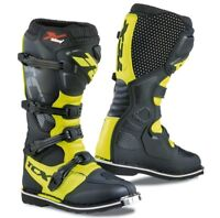 STIVALI BOOTS MOTO MX CROSS ENDURO TCX X-BLAST BLACK YELLOW FLUO NERO GIALLO 44